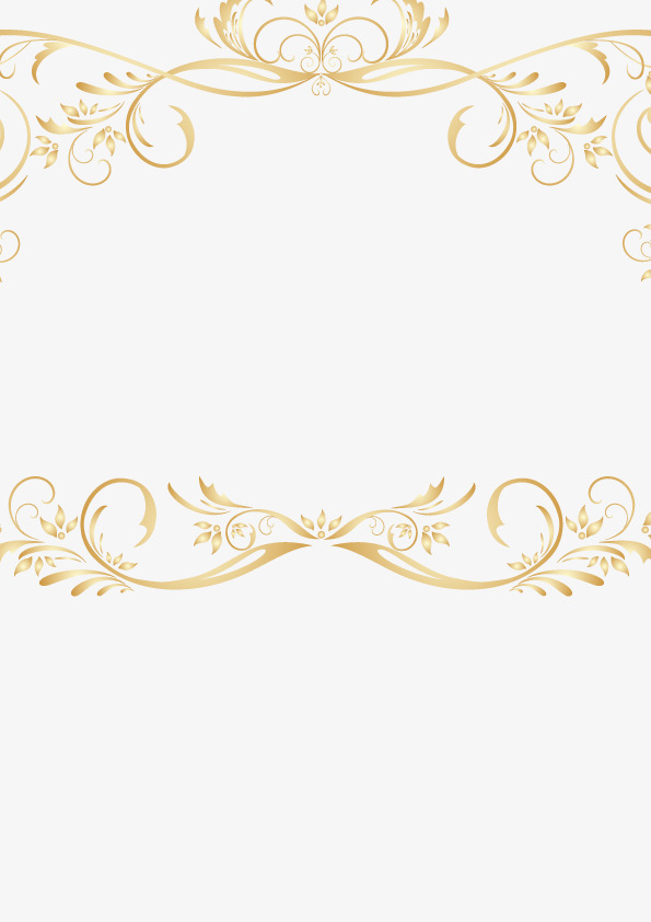 595x842 Vintage Gold Lace Border Vector, Retro, Golden, Lace Png And