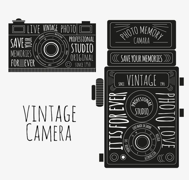 650x619 2 Vintage Camera Vector Painted, Vintage Vector, Camera Vector