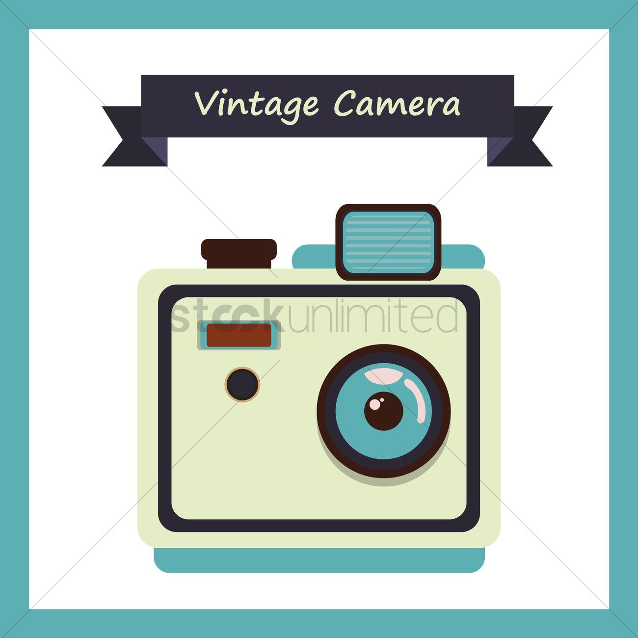 1300x1300 Free Vintage Camera Vector Image