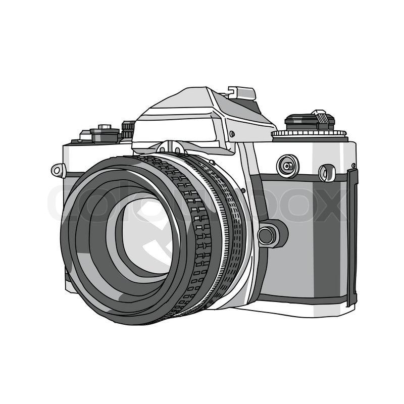 800x800 Hand Drawn Of Vector Camera Stock Vector Colourbox