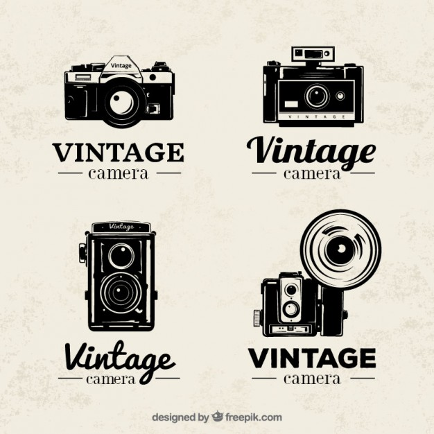 626x626 Hand Drawn Vintage Photography Badges Vector Free Download