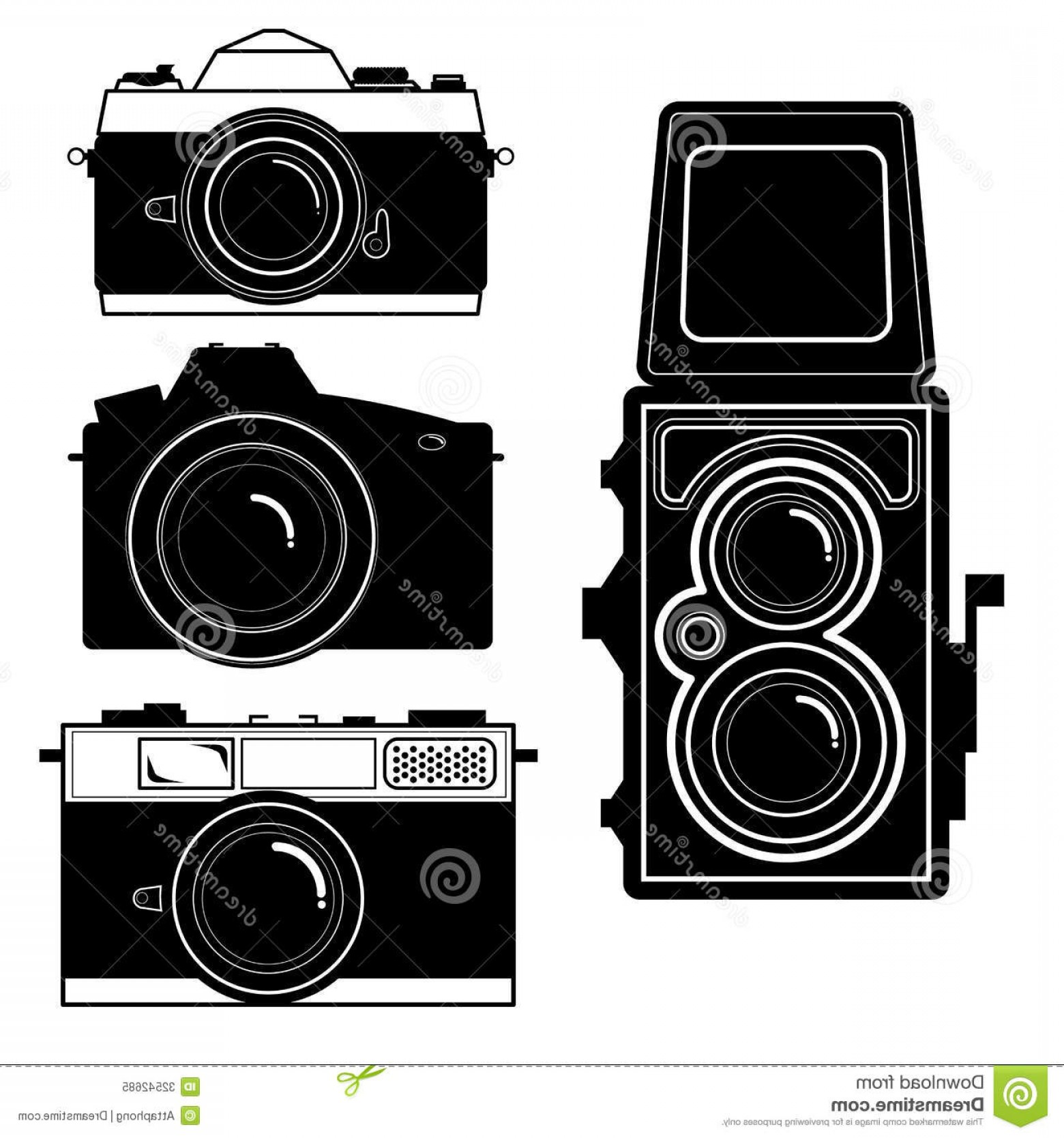 1560x1668 Royalty Free Stock Photo Camera Vintage Camera Vector Set Isolate