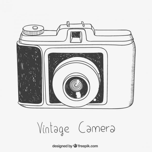 626x626 Sketchy Vintage Camera Vector Free Download