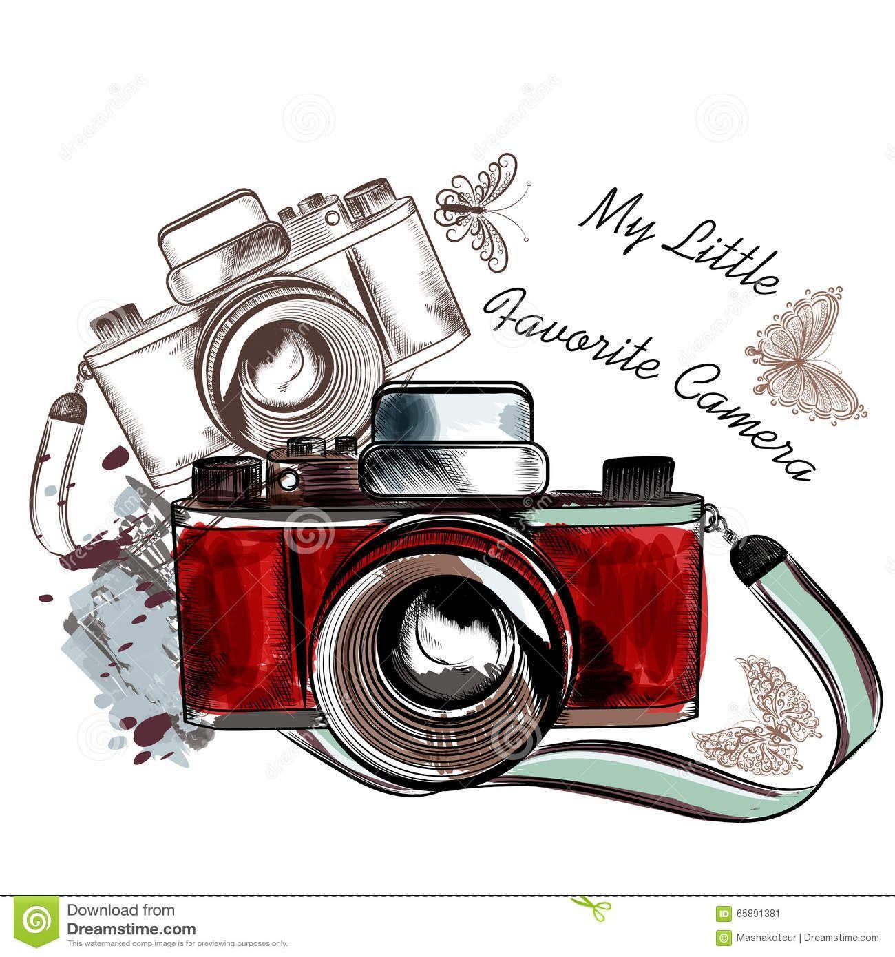 1300x1390 Vintage Camera Graphic Cute Hand Drawn Vintage Camera Vector