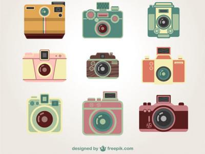 400x300 Vintage Camera Vector Art By Freepik Company