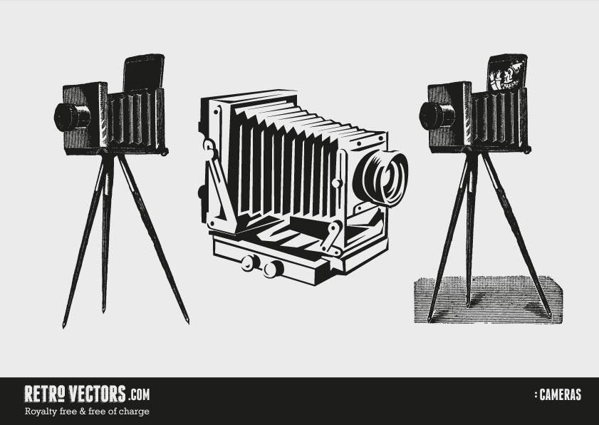 841x596 Vintage Cameras Free Retro Vectors