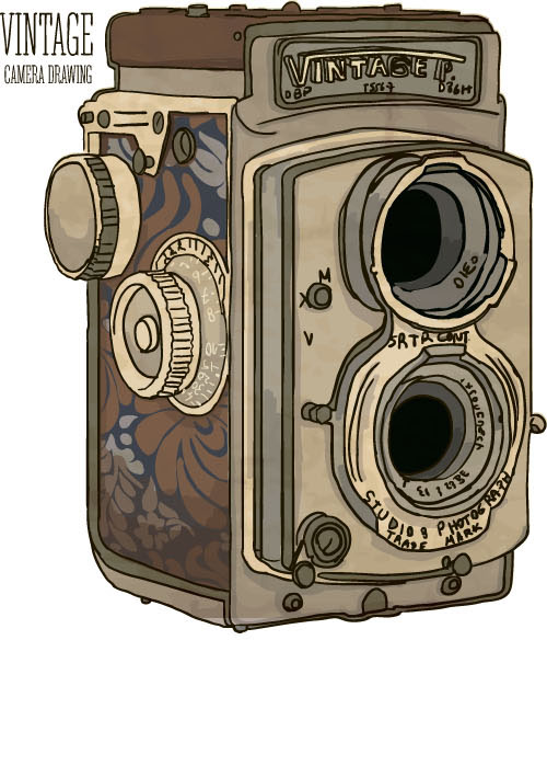 500x699 Vintage Camera Hand Drawing Vectors Set 08 Free Download