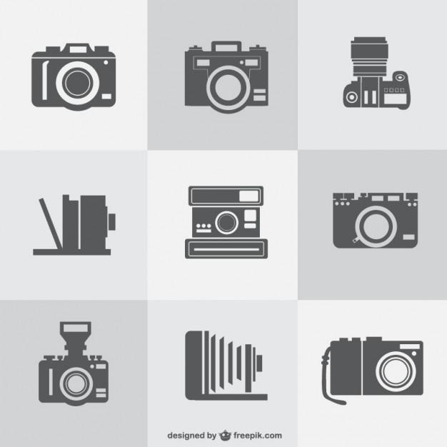 626x626 Vintage Cameras Collection Vector Free Download