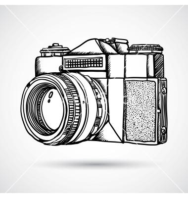 380x400 Drawn Camera Retro Camera