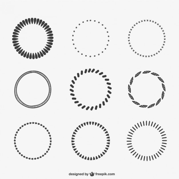 626x626 Calligraphic Circles Vector Free Download