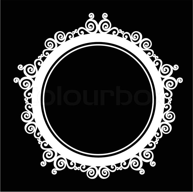 800x794 Circle Ornamental Vintage Baroque Frame. Stock Vector Colourbox