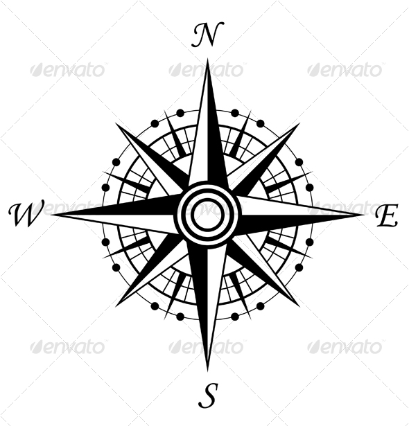 590x615 East Clipart Old Compass