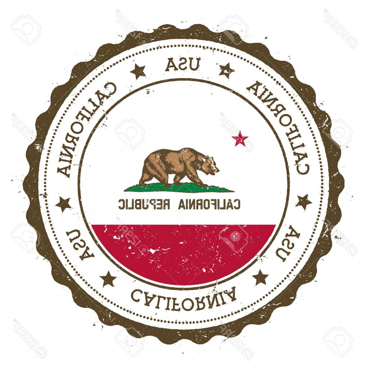 1560x1560 Photostock Vector California Flag Badge Grunge Rubber Stamp With