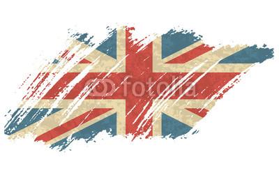 400x248 Vector Illustration Vintage Flag Of Uk. Grungy British Flag