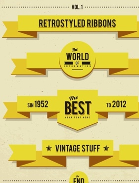 281x368 Vector Vintage Ribbons Eps Free Vector Download (180,686 Free