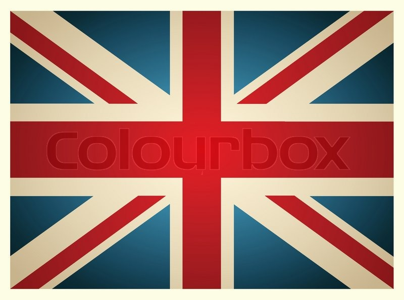 800x595 Vintage British Flag Vector Illustration Stock Vector Colourbox