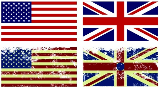 556x305 American And British Flag Vintage Vector Free Vector In Coreldraw