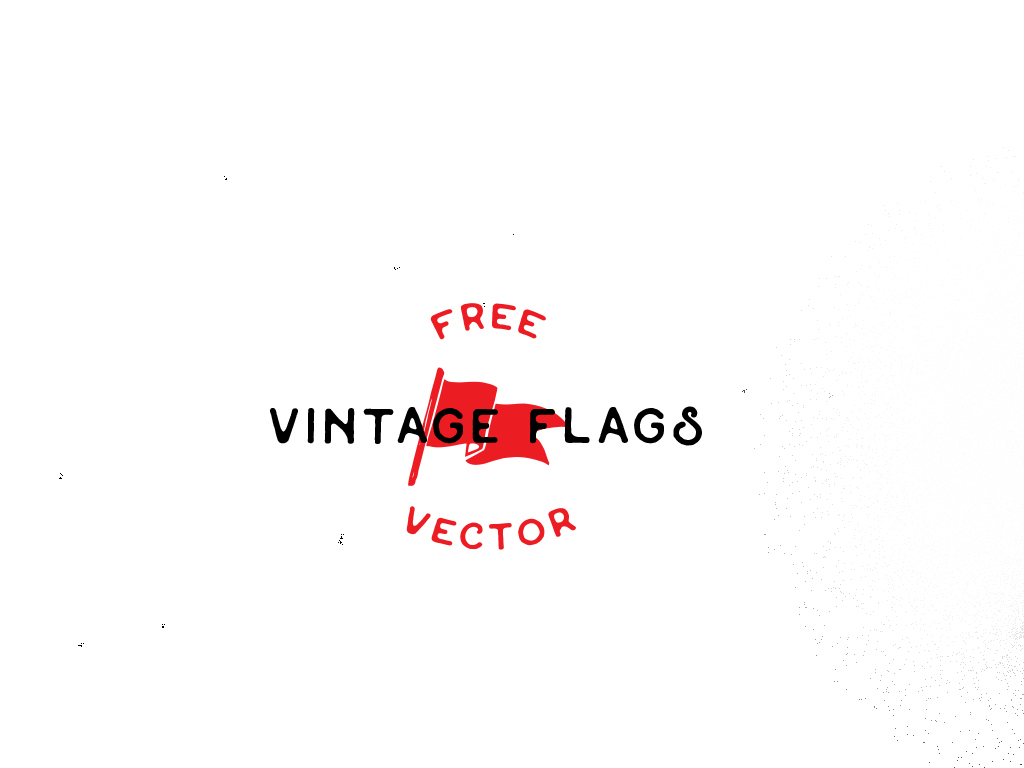 1024x768 Vintage Flags Vector
