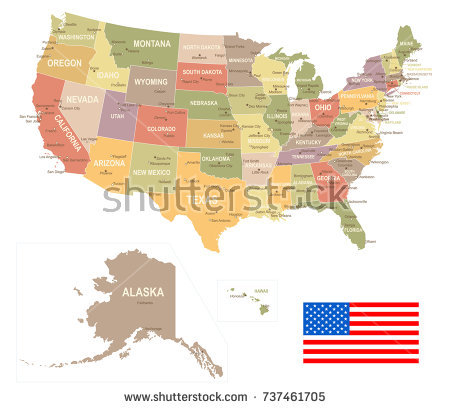 450x409 Vintage Montana Map United States Vintage Map Flag Vector Stock