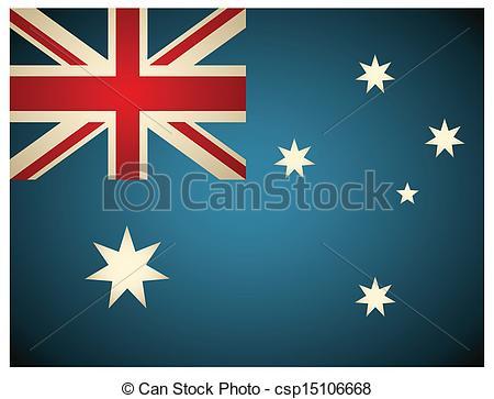 450x363 Vintage Australia Flag. Vector Illustration.