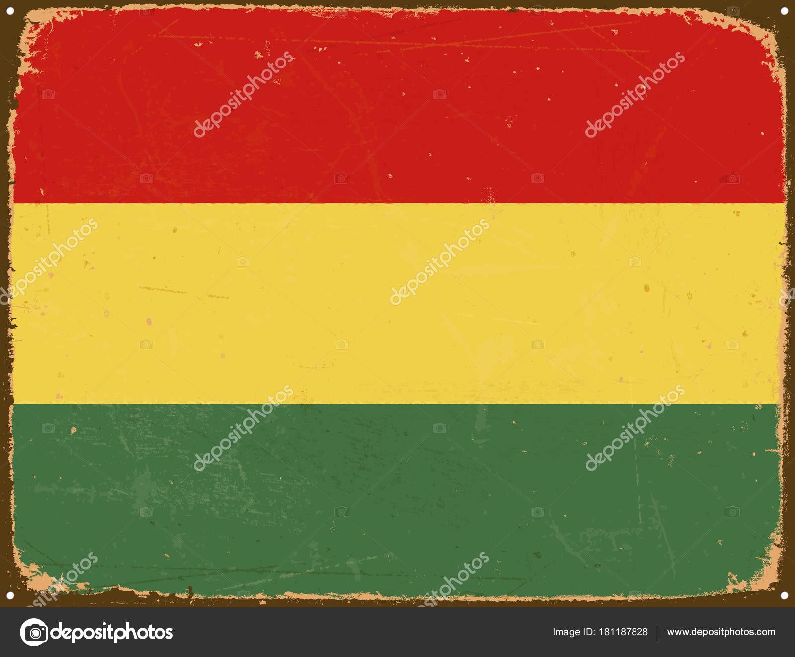1600x1324 Bolivia Flag Refrence Vintage Metal Sign Bolivia Flag Vector Eps10