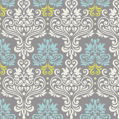 500x500 Vintage Floral Decor Pattern Seamless Vector Free Download
