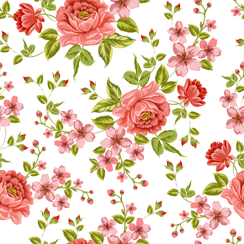 500x500 Vintage Flower Patterns Vector Graphics 01 Free Download