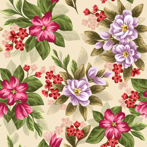 500x500 Vintage Flower Patterns Vector Graphics 02 Free Download
