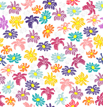 355x368 Free Vintage Seamless Floral Pattern Vectors Free Vector Download