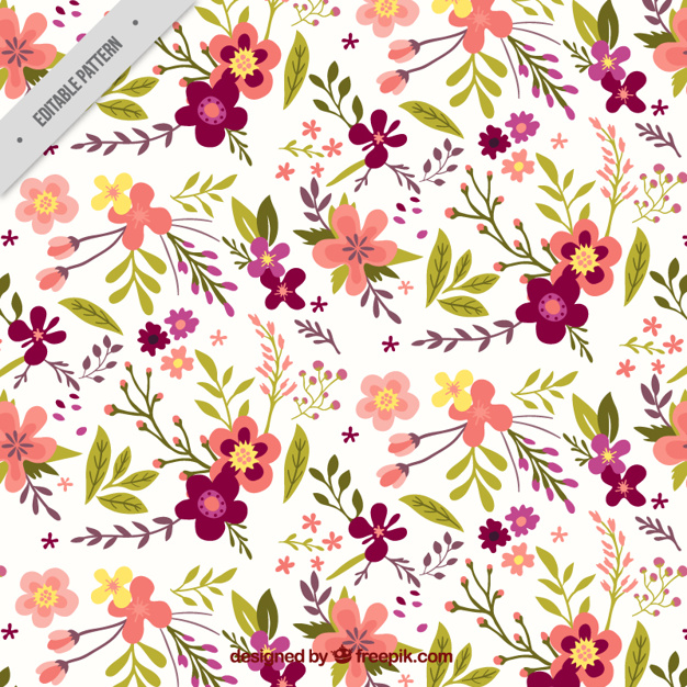 626x626 Pretty Vintage Floral Pattern Vector Free Download