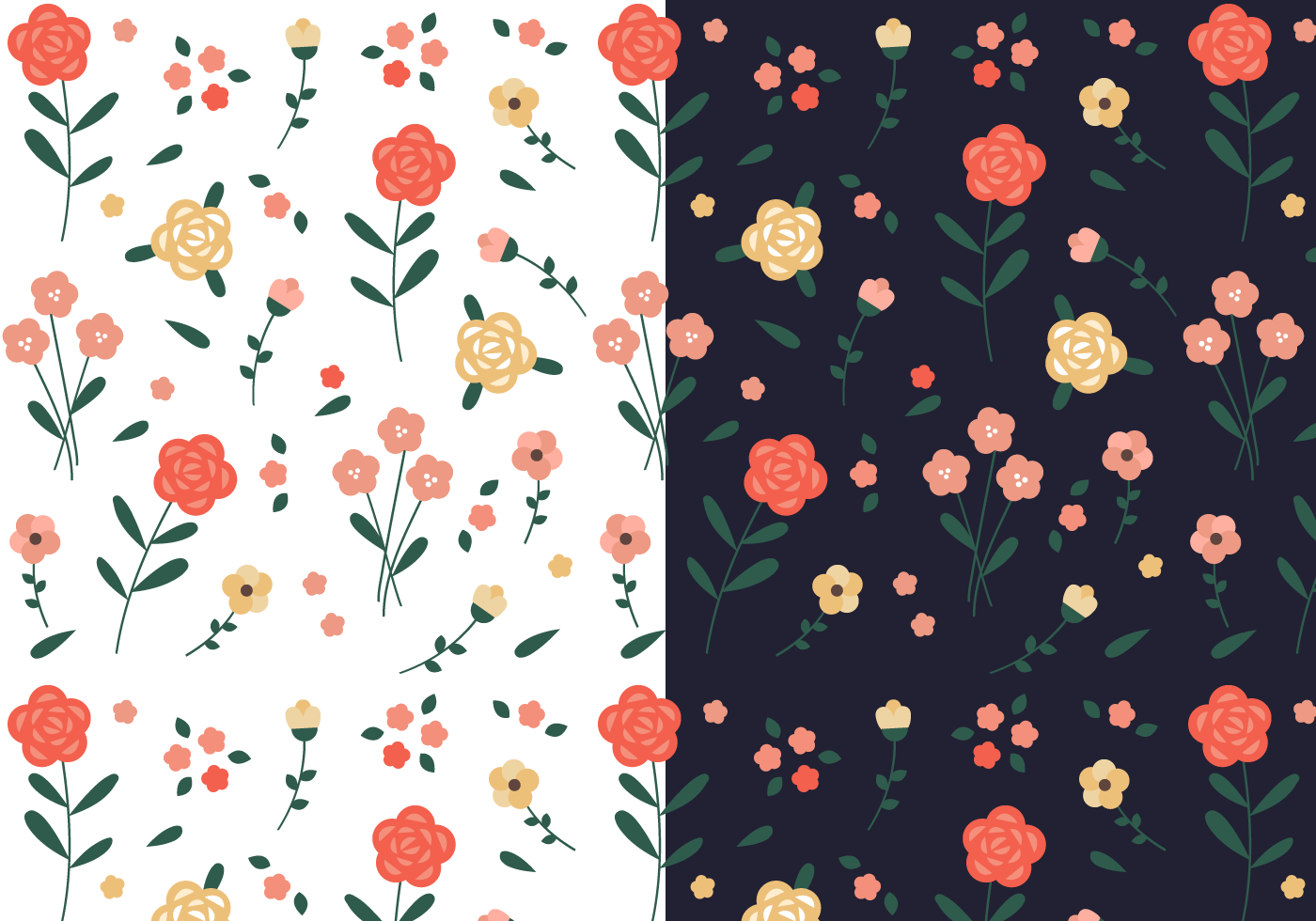 1400x980 Seamless Floral Pattern