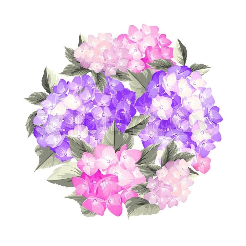 800x800 Bouquet Of Vintage Flowers. Vector Background. Stock Vector