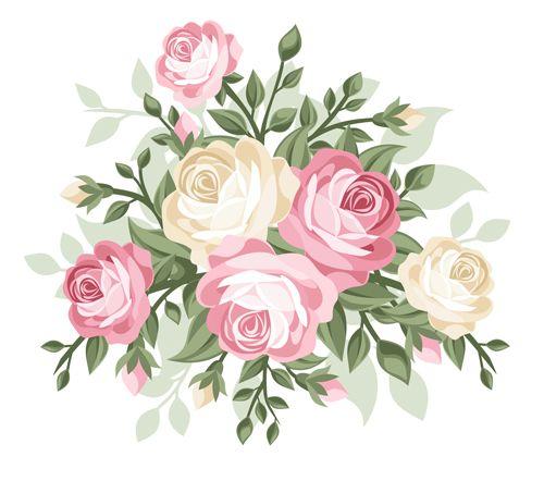 500x442 Elegant Flowers Bouquet Vector 01 Cathkidson Wallpapers