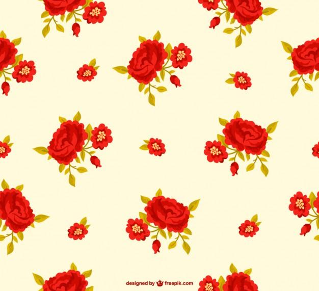 Vintage Flower Vector Free