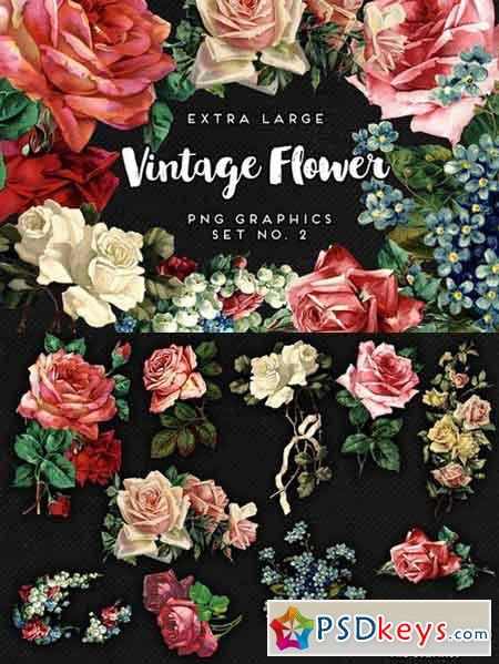 Vintage Flower Vector Free Download