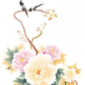 300x300 Vintage Flower Bouquet Drawing Peony Vector Sohadacouri