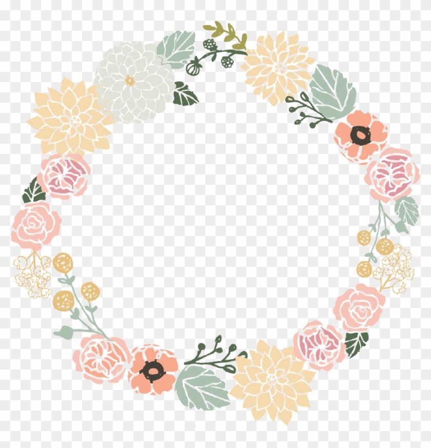 840x873 Vintage Flower Clipart Flower Wreath