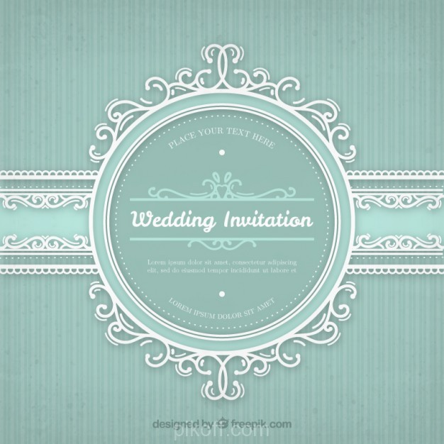 626x626 Ai] Wedding Invitation With Vintage Frame Vector Free Download