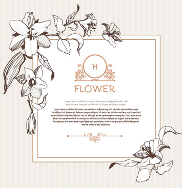 355x368 Hand Drawn Flower Vintage Frame Vector Png Images, Backgrounds And