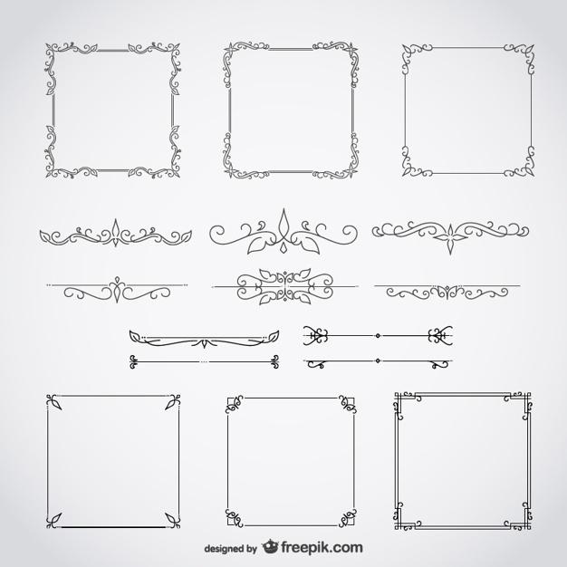 626x626 Vector Frames Free