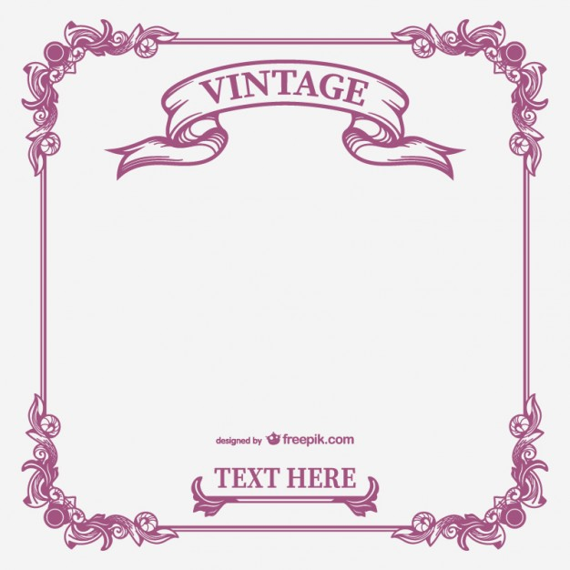 626x626 Vintage Calligraphic Frame Vector Vector Free Download Counter