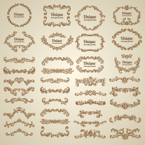 500x500 Vintage Floral Decorative Borders And Frames Vector Free Free