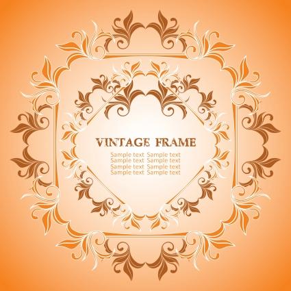 425x425 Vintage Frame Vector Free Vectors Ui Download
