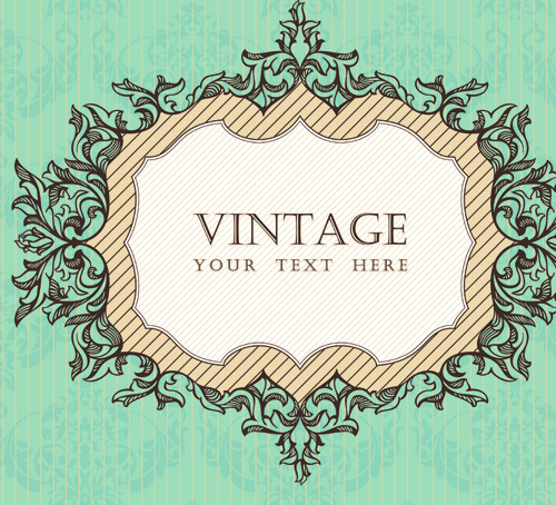 500x454 Vintage Frame Vector Background Art Free Vector In Encapsulated