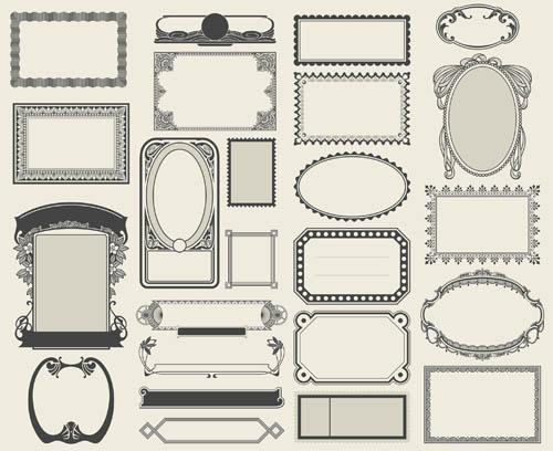 500x408 Decorative Vintage Frames 7 Ai Format Free Vector Download