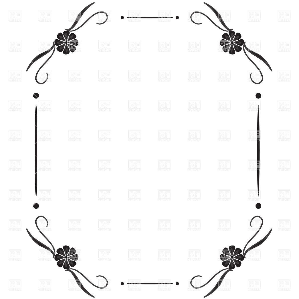 1200x1200 Simple Square Vintage Frame With Vignettes In Corner Vector Image