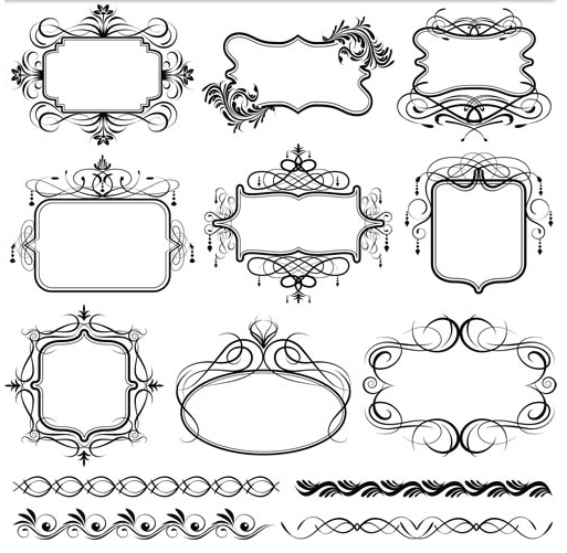 513x501 Stylish Vintage Frames 18 Ai Format Free Vector Download
