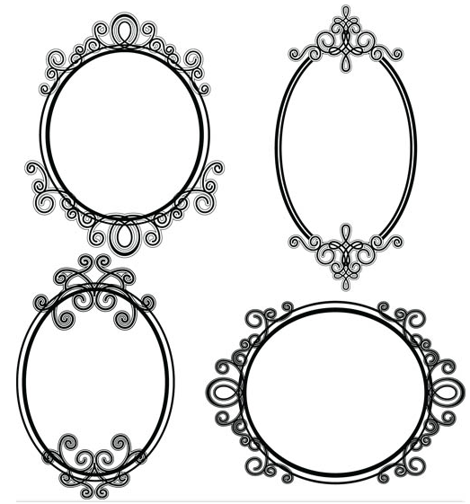 523x561 Stylish Vintage Frames 22 Ai Format Free Vector Download