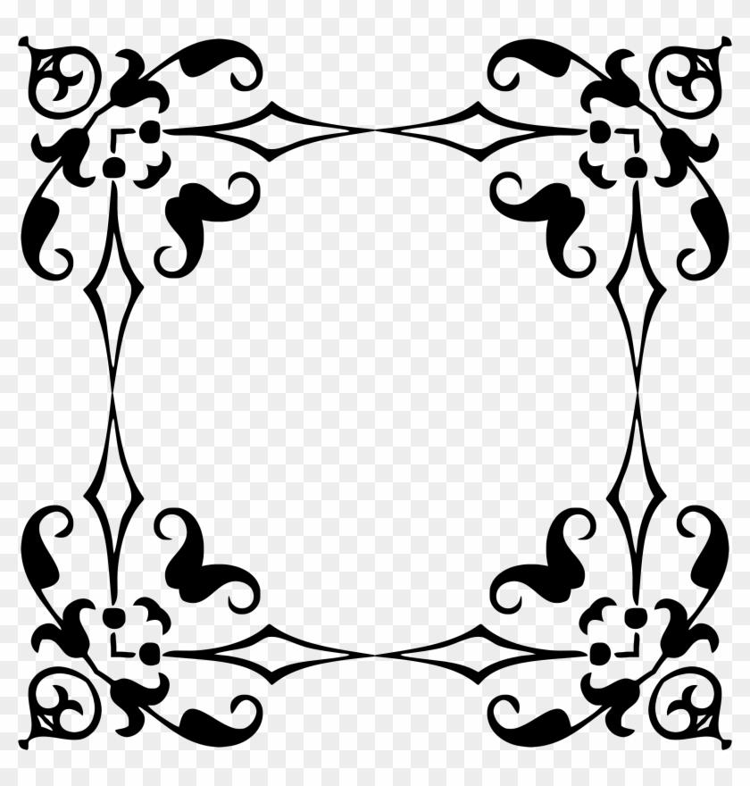 840x880 Floral Decorative Frame Border