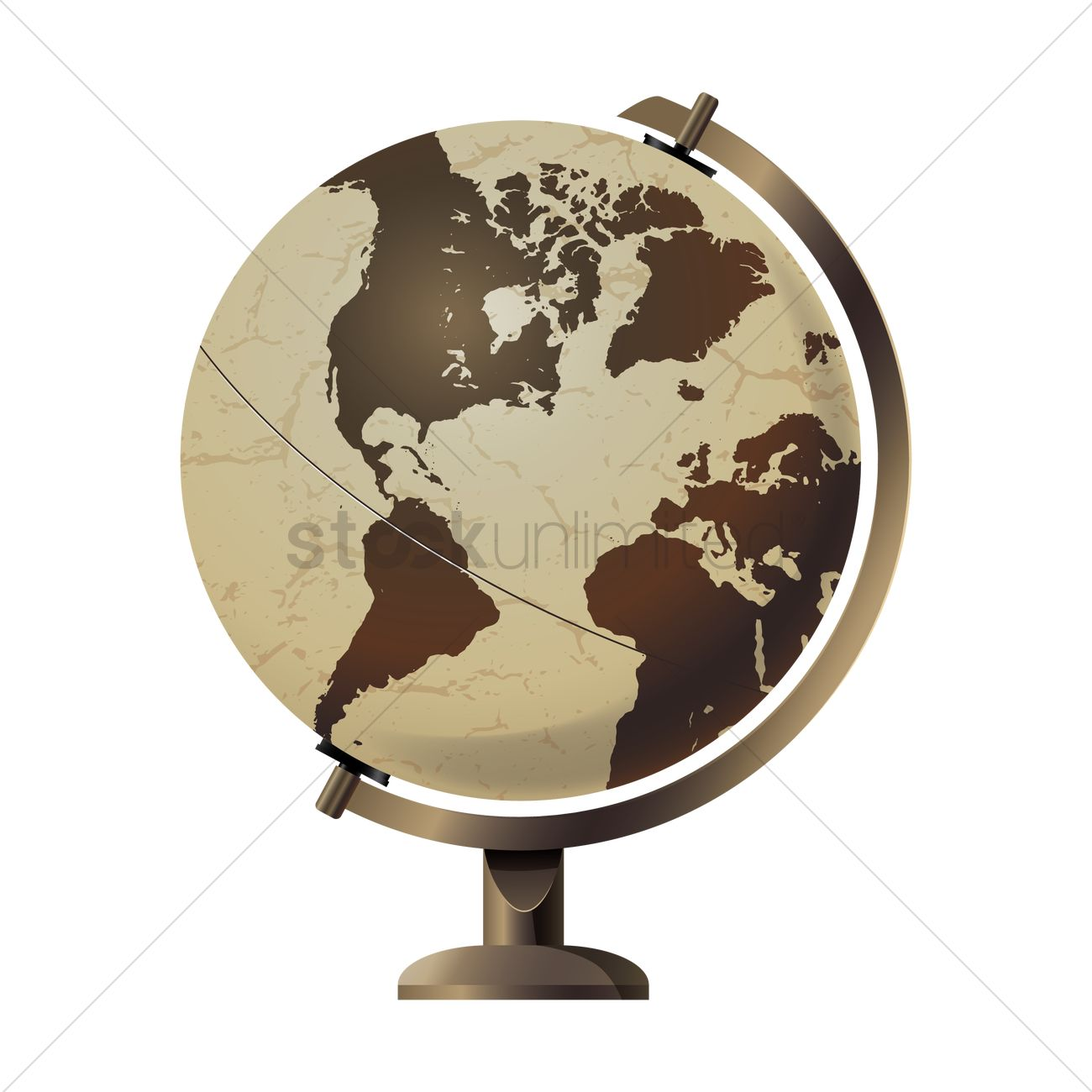 1300x1300 Vintage Globe Stand Vector Image
